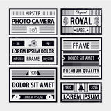 Vector set of modern hipster frames, labels Royalty Free Stock Photography