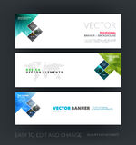 Vector set of modern horizontal website banners with arrow, rect vector illustration