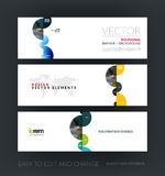 Vector set of modern horizontal website banners with blue abstra Royalty Free Stock Photography