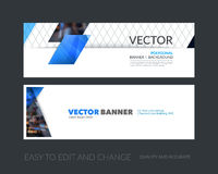 Vector set of modern horizontal website banners with colourful d Stock Photos