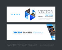 Vector set of modern horizontal website banners with colourful h Royalty Free Stock Photo
