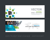 Vector set of modern horizontal website banners with many yellow Royalty Free Stock Image