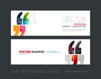 Vector set of modern horizontal website banners with quotes, com vector illustration