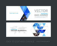 Vector set of modern horizontal website banners with yellow arro Stock Photo