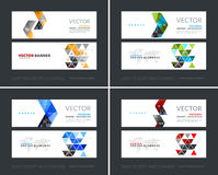 Vector set of modern horizontal website banners with yellow arro Stock Image