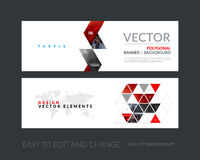 Vector set of modern horizontal website banners with yellow arro Stock Photography