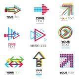 Vector set of modern logos Stock Photo