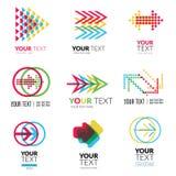 Vector set of modern logos Stock Photos