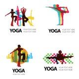 Vector set of modern logos Stock Photography