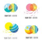 Vector set of modern logos Royalty Free Stock Photography