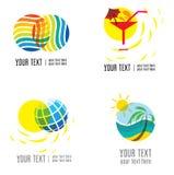 Vector set of modern logos Stock Images