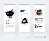 Vector set of modern roll Up Banner stand design with Black Friday sale inscription design template, marketing price stock illustration