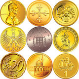 Vector Set Money Coins Of Different Countries Royalty Free Stock Image