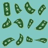 Vector set of Money.Dollar Royalty Free Stock Image