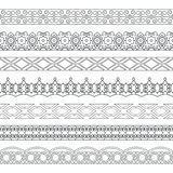 Vector set of monochrome dividers Royalty Free Stock Images