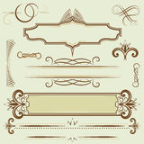 Set monograms and borders Stock Photo