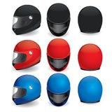 Vector set of motorcycle helmet Stock Photo
