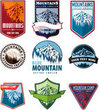 Vector set of mountain logo emblems Stock Images