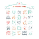 Vector set of movie genres Royalty Free Stock Photos