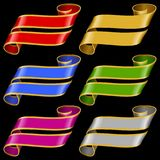 Vector set of Multicolor Banner Ribbons royalty free illustration