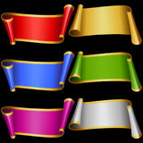 Vector set of Multicolor Banner Ribbons Royalty Free Stock Images