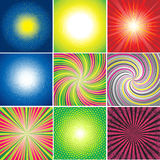 Vector set of multicolored shining backgrounds Royalty Free Stock Photo