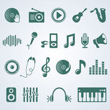 Vector set of music icons Stock Photo