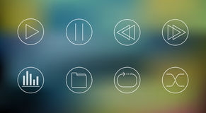 Vector set of music player icons Royalty Free Stock Photos