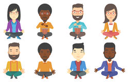 Vector set of musicians and business characters. Stock Photography