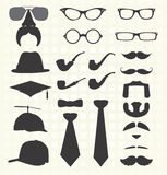 Vector Set: Mustache and Other Fashion Royalty Free Stock Image