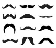 Vector set of mustaches Royalty Free Stock Image