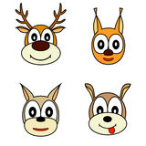 Vector set of muzzle the animals. Stock Images