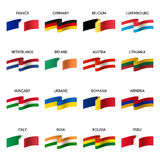 Vector set of national flags Royalty Free Stock Image