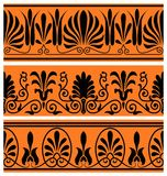 Vector set of national greek seamless ornaments Royalty Free Stock Photography