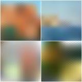 Vector set of nature blurred hexagonal unfocused Royalty Free Stock Image
