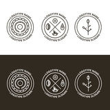 Vector set of nature and travelling logo Royalty Free Stock Photos