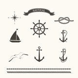 Vector set of nautical elements Royalty Free Stock Photos