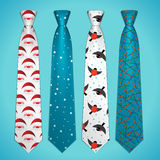 Vector set of neckties Royalty Free Stock Photos