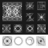 Vector set of net backgrounds Royalty Free Stock Photo