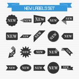 Vector set of new labels Stock Photography