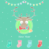 Vector set New year Stock Images