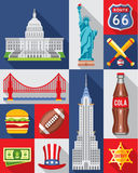 Vector Set of New York City Royalty Free Stock Image