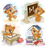Vector set of numbers with a fun teddy bear Stock Photo