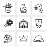 Vector Set of Nuthouse Icons. Stock Images