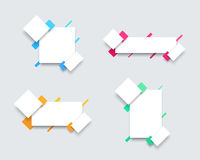 Free Vector Set Of 4 Simple Colourful Text Box Banner Templates A Stock Photos - 90720743