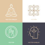 Vector Set Of Abstract Logo Design Templates And Symbols Royalty Free Stock Photo