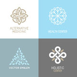 Vector Set Of Abstract Logos Royalty Free Stock Photography