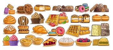 Free Vector Set Of Assorted Desserts Stock Photo - 181466110