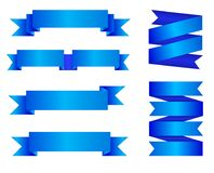 Free VECTOR Set Of Blue Ribbon Banners Isolated On White Background Stock Photography - 107224282