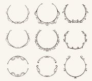 Free Vector Set Of Border Circle Frame - Vintage Style Royalty Free Stock Photos - 117063908